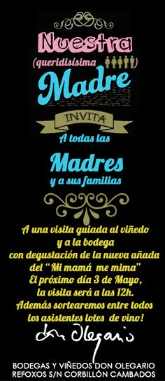 Bodegas y Viñedos Don Olegario celebra el Día de la Madre con una visita guiada y degustación de la nueva añada