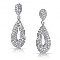 Classy Pave Earrings