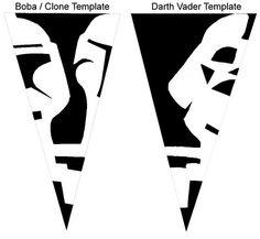 Star Wars snowflake template