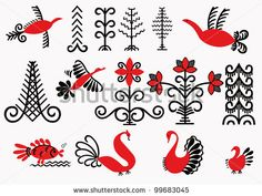 stock-vector-signs-painting-depicting-mezen-flowers-trees-fish-birds-russian-ancient-folk-art-99683045.jpg 450×338 pixels