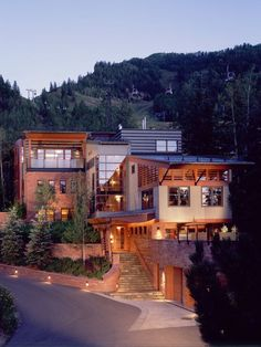 Dream house Mitchell Residence - modern - exterior - other metro - by Poss Architecture + Planning + Interior Design Houses Architecture, Beautiful Architecture, Architecture Design, Style At Home, Modern Exterior, Exterior Design, Exterior Trim, Mountain Homes, Aspen Mountain