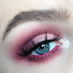 "Magenta and merlot are the 'it' colors right now and here they are in beautiful eye shadows. This look is sexy and mysterious and so beautiful for blue and grey eyes.  From: ""Another gorgeous look using the #Venus palette, via @alyssamarieartistry!  Back in stock soon! Tag #limecrime to have your work featured."""