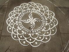 https://flic.kr/p/6TyPhz | Incomplete Rangoli at Castle Square, Lincoln | First few circles of Rangoli