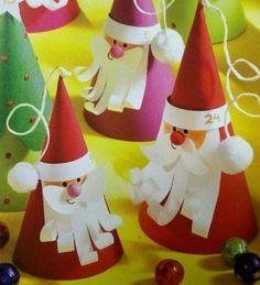 Дед морозы из бумаги - Сайт для мам малышей