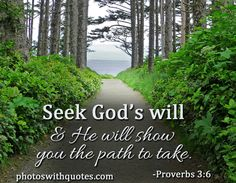 """Proverbs 3:6 """"In all thy ways acknowledge him, and he shall direct thy paths."""