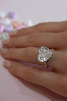 4a17cf98681d7 202 Best Heart Shaped Engagement Rings images in 2019   Heart ...