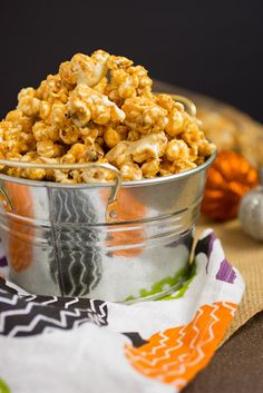 Peanut Butter White Chocolate Popcorn #HolidayFoodParty from The Girl In The Little Red Kitchen