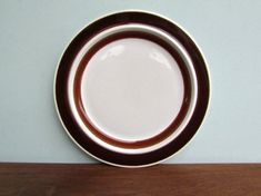 Brown Dinner Plates, Weird Shapes, Brown Band, Mid-century Modern, Give It To Me, Mid Century, This Or That Questions, Vintage, Tableware