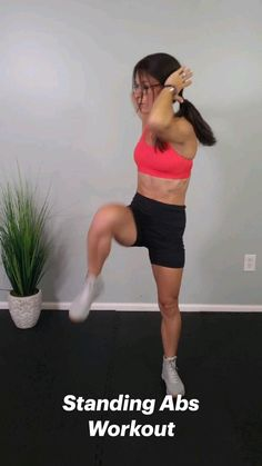 Standing Ab Exercises, Standing Abs, Fitness Workout For Women, Women's Fitness, Youtube Workout Videos, Ab Workout With Weights, Workout For Beginners, Workout Programs, Fun Workouts