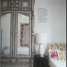 Tomas Alia In Spanish Ad Morocco Inlaid Armoire Suzani Darling Octagonal Studded Table Otomi Pillows Arabian Decor Suzani Otomi Fabric