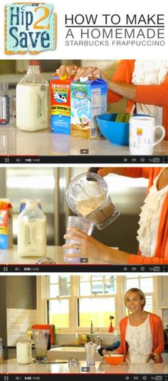 Homemade Starbucks Frappuccino via Hip2Save {video} by Hip2Save (It's Not Your Grandma's Coupon Site!)