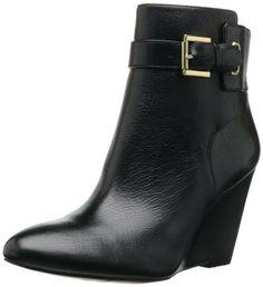 Nine West Women's Zapper Boot,Black Leather,6 M US - Boots