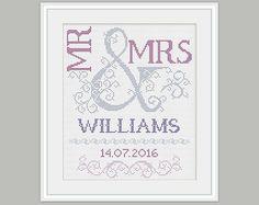 Cross Stitch Pattern- Wedding gift - Scheme for Stitch Pattern - Embroidery…