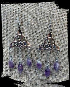 Triketa amethyst earrings