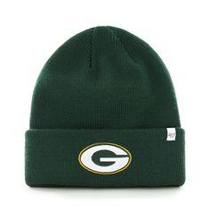 Green Bay Packers Raised Cuff Knit Dark Green 47 Brand Hat Green Bay  Packers Hat 9491c22c2