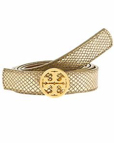Tory Burch Leather Reversible Logo Belt $185.00  $99.90