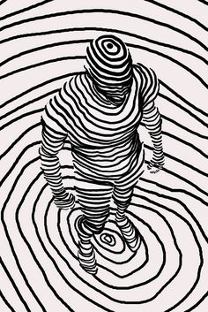 Camouflage  |  line drawing  |  Artist:  Annie Wu  |  via:  Flickr