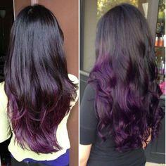 Hermoso cabello morado
