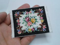 Aubusson rug Scale 1/24 by MiniaturasCubells on Etsy