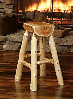 Resin Furniture, Repurposed Furniture, Unique Furniture, Log Chairs, Log Stools, Wood Chair Design, Rustic Outdoor Furniture, Diy Home Bar, Homemade Furniture