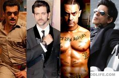 Shahrukh Khan, Salman Khan, Aamir Khan, Hrithik Roshan