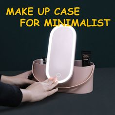 All-in-one Travel Make Up Case designed for minimalist. Forget bulky makeup case, enjoy sleek and effective style when you travel. Brand new product for 2019 … Beauty Box, Hair Routine, Bag Essentials, Fill Light, Make Up Videos, Girls Videos, Makeup Case, Cool Makeup, Mirror With Lights