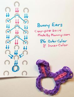 made by mommy rainbow loom charts to print Rainbow Loom Tutorials, Rainbow Loom Patterns, Rainbow Loom Creations, Rainbow Loom Bands, Rainbow Loom Charms, Rainbow Loom Bracelets, Loom Bands Instructions, Loom Bands Tutorial, Rubber Band Crafts