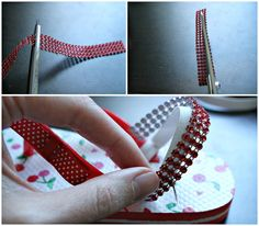 Freshly Completed: How to add a Back Strap to Flip Flops -- for little kids!