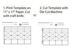 square paper lantern template instructions