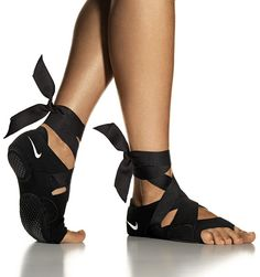 These studio wrap shoes are adorably fabulous and provide both great traction and support while practicing yoga. Purchase a 1/2 size up! http://swoo.sh/11tI0v8