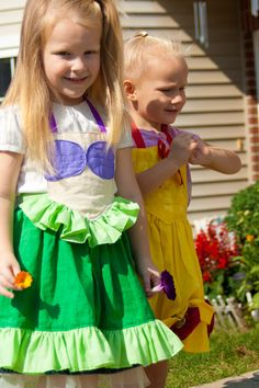 Disney Ariel Dress up apron by JerushaDesign on Etsy, $25.00