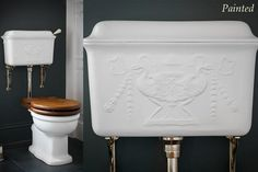 Toilets and cisterns - Low level cisterns - polished decorated cistern