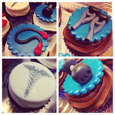 Doctor of physical therapy cupcake toppers by How Sweet It Is NY.