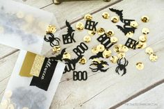DIY Halloween Confetti made with Cricut Explore -- The Crafted Sparrow. #DesignSpaceStar Round 3