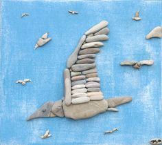 Making Animal Figures by Laying Natural Stones - Natural stones, natural stone houses and natural stone quarries Pebble Mosaic, Stone Mosaic, Pebble Art, Pebble Pictures, Stone Pictures, Stone Crafts, Rock Crafts, Pebble Stone, Stone Art