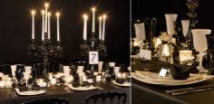 Table noir et blanc Carine Pinon (1280.fr) et Soizic Chomel pour la Maison OPTIONS  Photo Clara Joannides