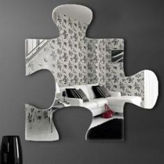 "Graham & Brown Acrylic Shaped Mirror - Jigsaw Mirror - 16"" X 16\"" - 42928 - All Wall Art - Wall Art & Coverings - Decor"