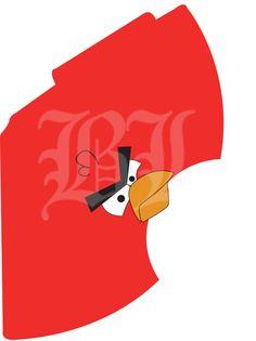 DYI angry bird hats