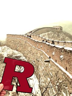 Rutgers climbs the Great Wall!