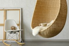 I sooo want one of those hanging chairs! Hanging Chairs, Kids Rooms, Wicker, Organize, Organization, Spaces, Reading, Google, Books
