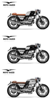 3 concepts based on the Moto Guzzi V50 Monza '82