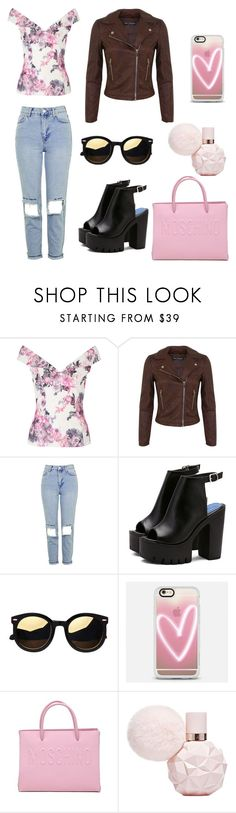 """""""Rosé"""" by bestylished on Polyvore featuring Miss Selfridge, Topshop, Casetify and Moschino"""