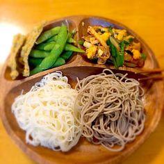 お昼食べ過ぎたので夕飯はアッサリといただきました。 - 87件のもぐもぐ - 素麺&蕎麦♪ by paraiba