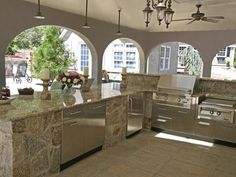 Outdoor Kitchen Designs With Roofs | Kitchen design stone outdoor kitchen design home furniture design ...