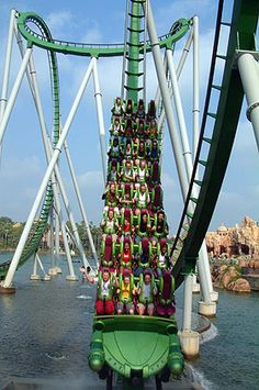 Universal's Islands of Adventures theme park has incredible thrill rides to offer, like the Hulk coaster. Check out http://sightsofthecity.com/orlando for travel tips on Orlando.