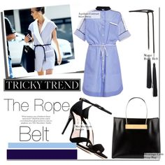 Trend: The Rope belt by nfabjoy on Polyvore featuring Miu Miu, Balenciaga, Rosetta Getty, StreetStyle, trend, trendreport and ropebelt