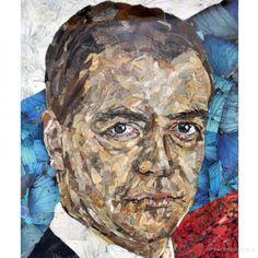 портрет Медведева из бабочек