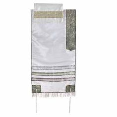 Yair Emanuel Grey Organza Tallit Prayer Shawl - Multicolored stripes by Yair Emanuel. $59.99. This delicate Grey organza tallit with multi-colored stripes is a beautiful piece of wearable art to bring color and joy to the spiritual ritual of wearing a tallit. The tallit is made from diaphanous organza fabric.