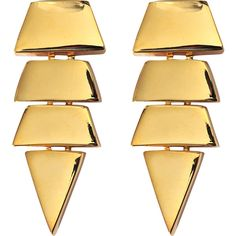 Eddie Borgo Scaled Triangle earrings ($240) ❤ liked on Polyvore featuring jewelry, earrings, accessories, brincos, joias, triangle earrings, metal jewelry, metal earrings, triangular earrings and earrings jewelry