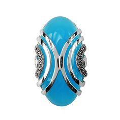 Aura 925 Sterling Silver Marcasite Pendant with Top Sky Blue Gemstone - Free Shipping Aura by Silver Master http://www.amazon.com/dp/B00IZ7UUPA/ref=cm_sw_r_pi_dp_91V.tb1ZJH0XT